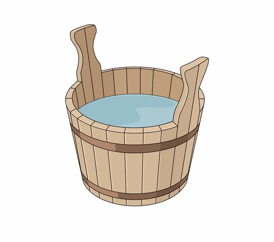 Fill the bucket with water